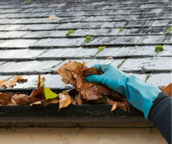 image used for fall of cleaning your gutters