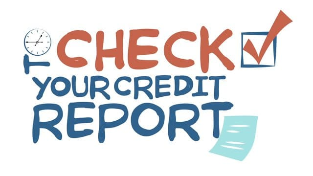 image of a check box next to free credit report