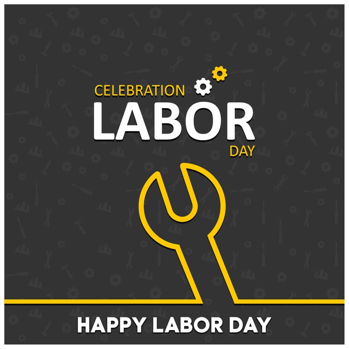 labor day image of a wrench