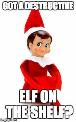 illustrated elf on the shelf